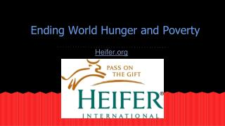 Ending World Hunger and Poverty