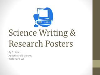 Science Writing & Research Posters