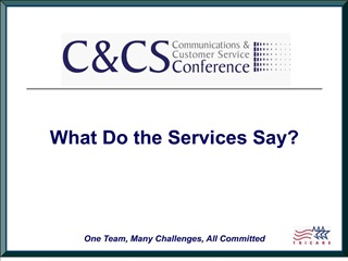 what do the services say