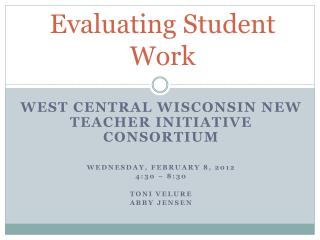 Evaluating Student Work