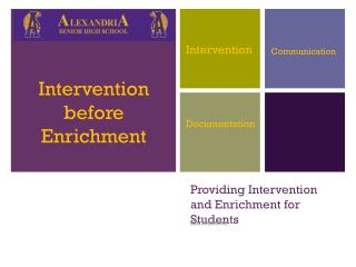 Providing Intervention and Enrichment for Students
