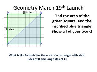 Geometry March 19 th  Launch
