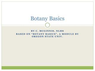 Botany Basics