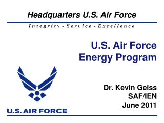 U.S. Air Force  Energy  Program