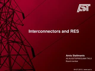 Interconnectors and  RES