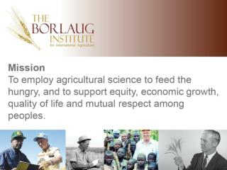 Agricultural Production Training, Capacity  B uilding 2011-2015    Enhancing DRC Military Agricultural Infrastructure  
