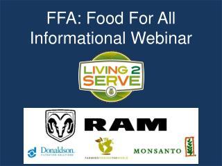 FFA: Food For All  Informational Webinar