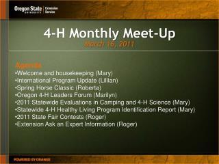 4-H Monthly Meet-Up