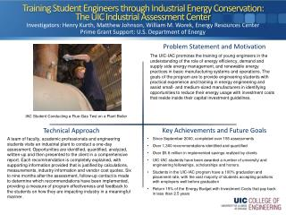 Training Student Engineers through Industrial Energy Conservation: The UIC Industrial Assessment Center