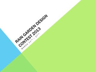 Rain Garden Design Contest 2013