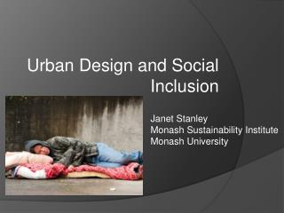 Urban Design and Social Inclusion