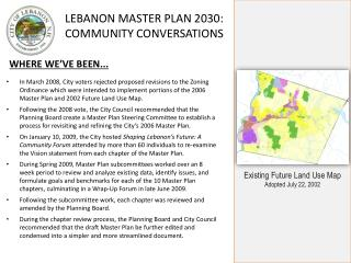Existing Future Land Use Map Adopted July 22, 2002