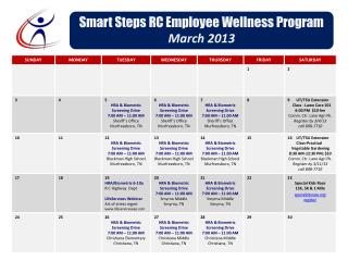 Smart Steps RC Employee Wellness Program March 2013