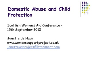 domestic abuse and child protection