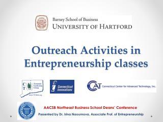 Outreach  A ctivities in Entrepreneurship classes