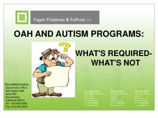 oah and autism programs:
