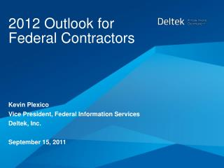 2012 Outlook for Federal Contractors