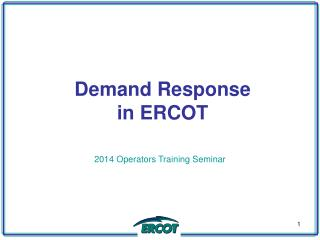 Demand Response  in  ERCOT