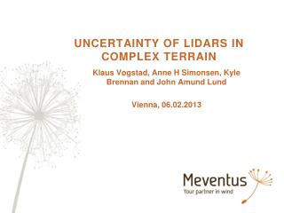 UNCERTAINTY OF LIDARS IN COMPLEX TERRAIN