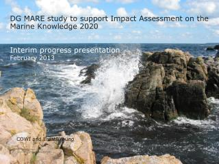 DG MARE study to support Impact Assessment on the Marine Knowledge 2020 Interim progress  presentation February 2013