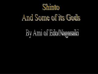 shinto and some of its gods