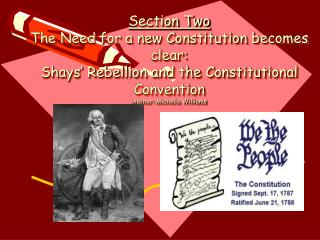 the ratification process of the united states constitution   section two the need for a new constitution becomes clear: