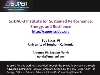 Bob Lucas University of Southern California Sept. 23, 2011