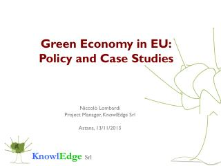 Green Economy in EU: Policy and Case Studies