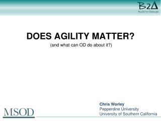 Does agility matter?