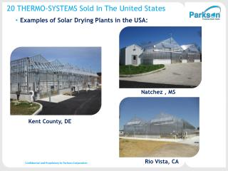 20 THERMO-SYSTEMS Sold In The United States