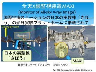 全天 X 線監視装置 MAXI