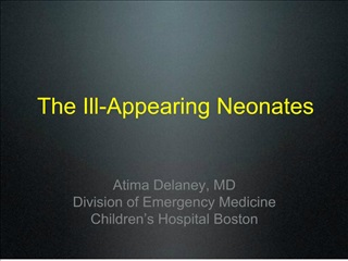 the ill-appearing neonates