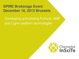 SPIRE Brokerage  Event  December 16,  2013 Brussels