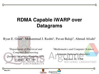 RDMA Capable iWARP over Datagrams