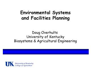 Environmental Systems and Facilities Planning