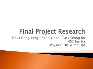 Final Project Research