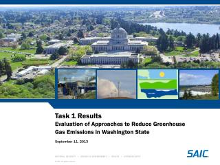 Task 1 Results   Evaluation of Approaches to Reduce Greenhouse Gas Emissions in Washington State