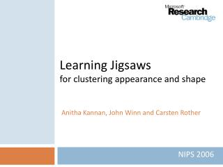 learning jigsaws for clustering appearance and shape