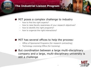 The Industrial Liaison Program