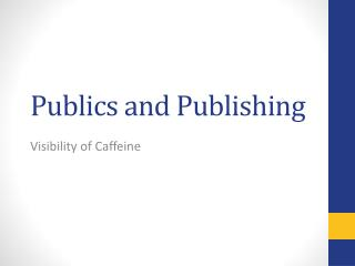 Publics and Publishing