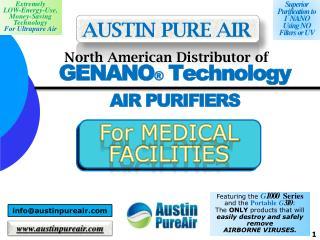 GENANO ®  Technology AIR PURIFIERS