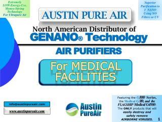 GENANO �  Technology AIR PURIFIERS