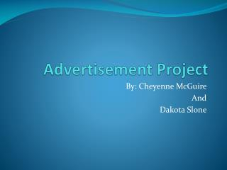 Advertisement Project