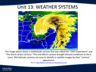 Unit 13:  Weather Systems