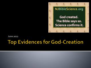 Top Evidences for God-Creation