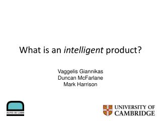 What is an  intelligent  product?