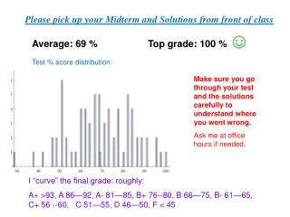 Average:  69  % Top grade:  100  %  ☺