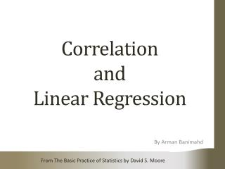 Correlation and L inear Regression