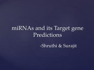 -Shruthi &  Surajit