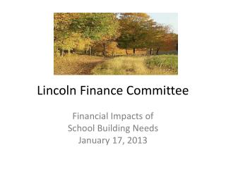 Lincoln Finance Committee